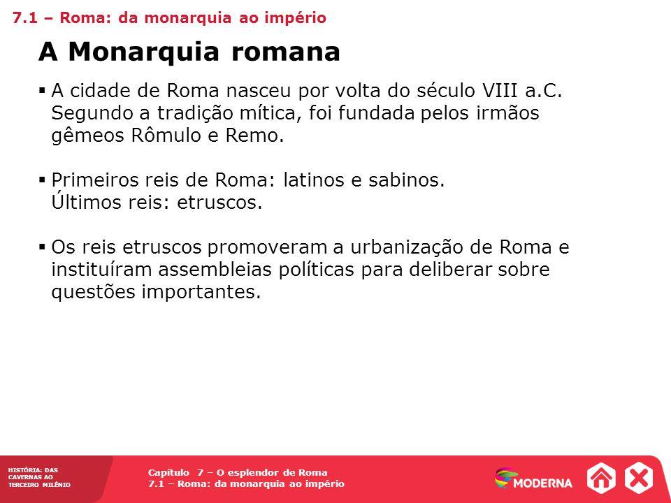 7.1 – Roma: da monarquia ao império