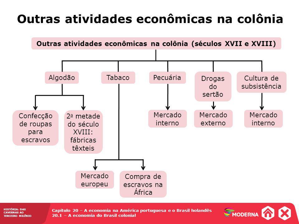 Outras atividades econômicas na colônia (séculos XVII e XVIII)