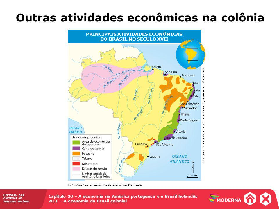 PRINCIPAIS ATIVIDADES ECONÔMICAS DO BRASIL NO SÉCULO XVII