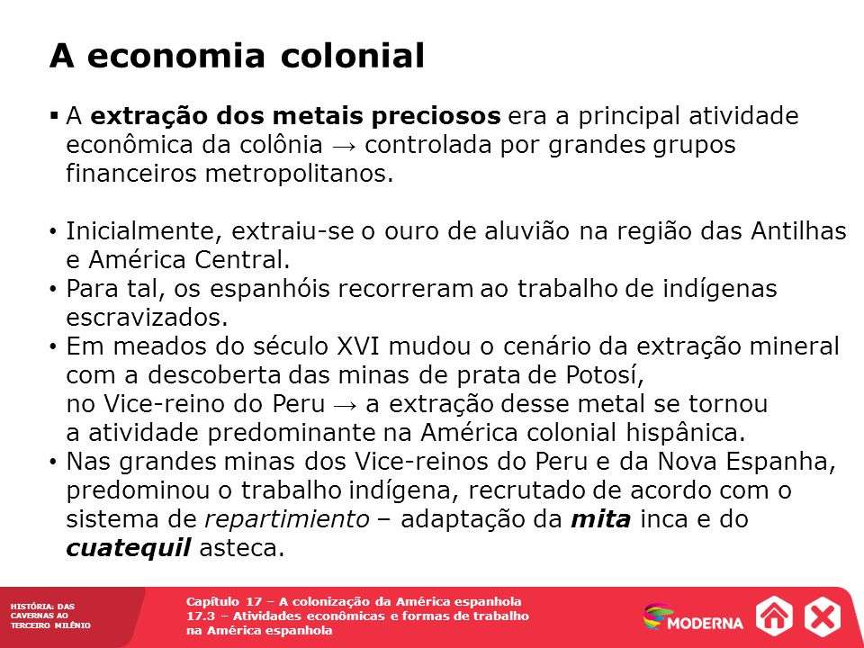 A economia colonial