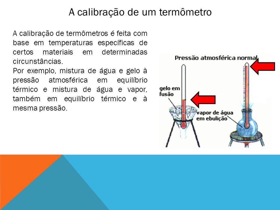 A calibração de um termômetro