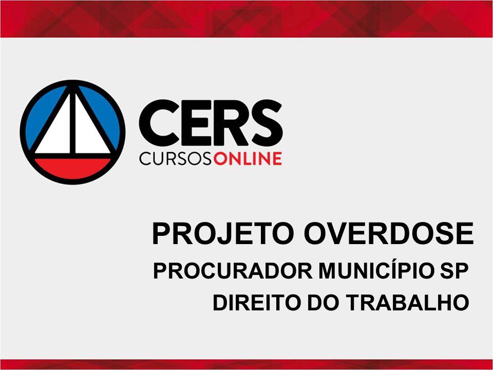 PROCURADOR MUNICÍPIO SP DIREITO DO TRABALHO