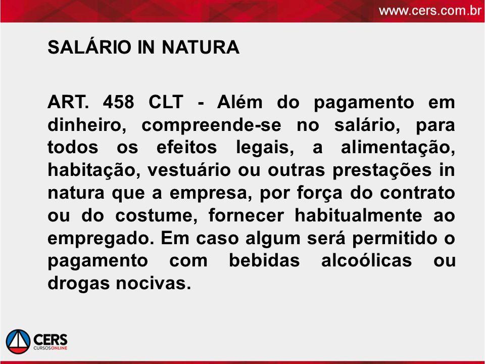 SALÁRIO IN NATURA ART.