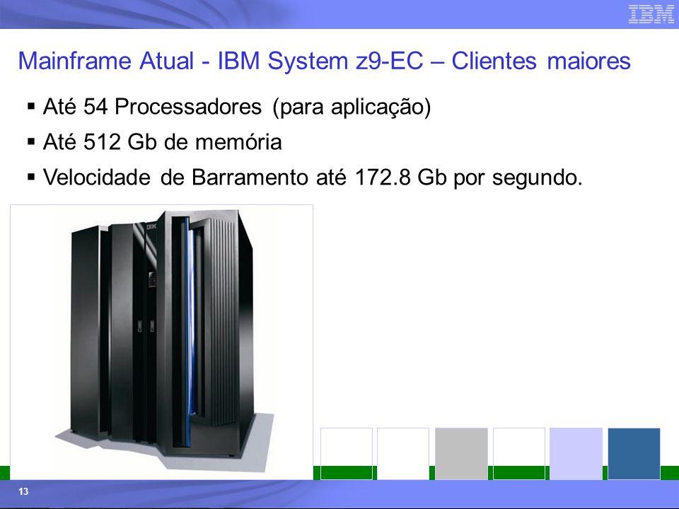 Mainframe Atual - IBM System z9-EC – Clientes maiores