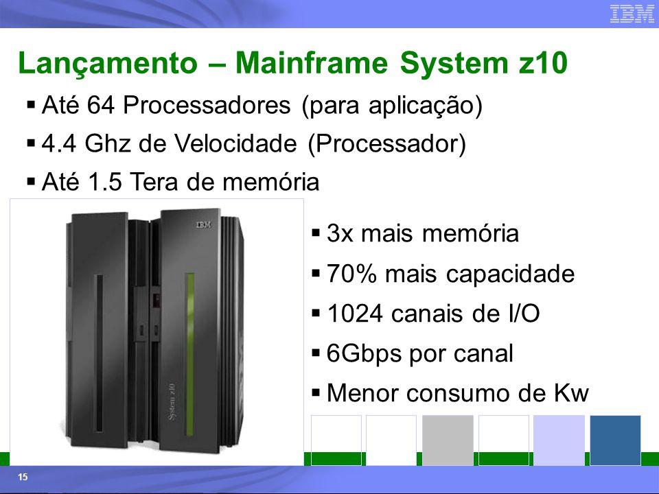 Lançamento – Mainframe System z10