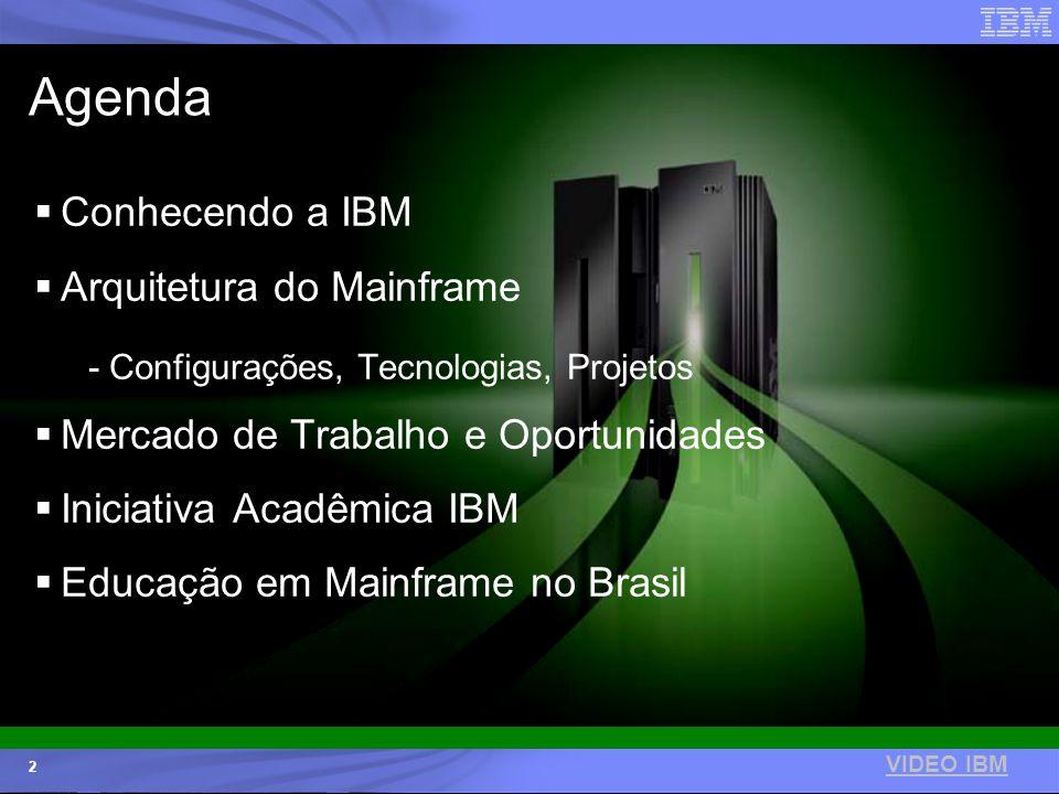Agenda Conhecendo a IBM Arquitetura do Mainframe