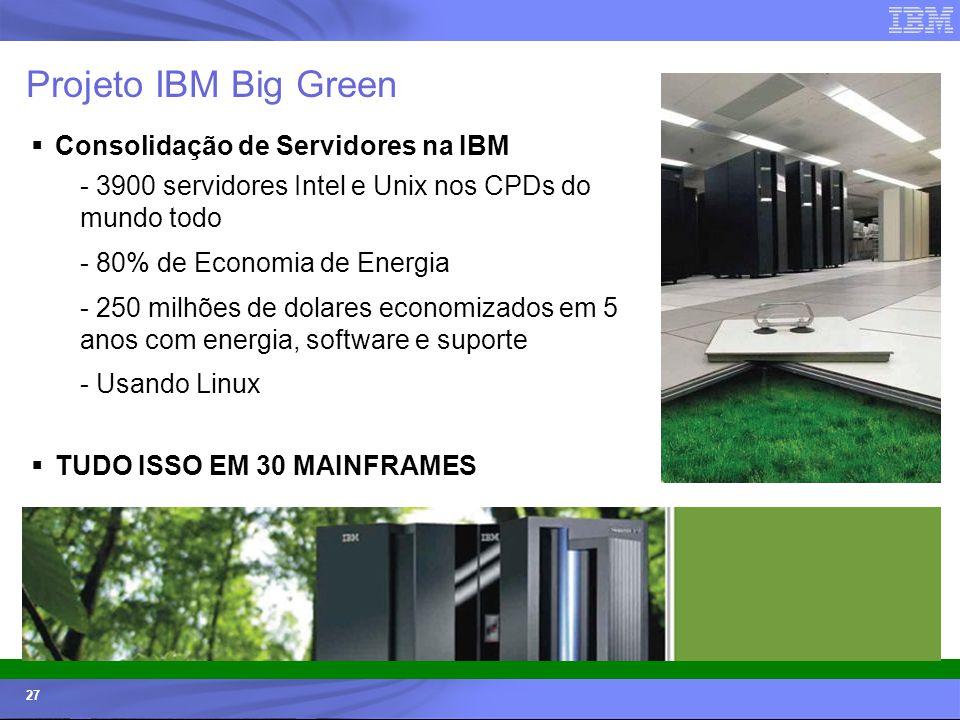 Projeto IBM Big Green Consolidação de Servidores na IBM