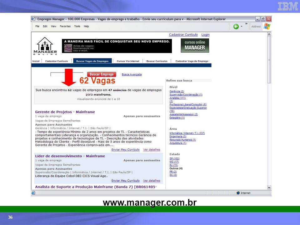 62 Vagas www.manager.com.br