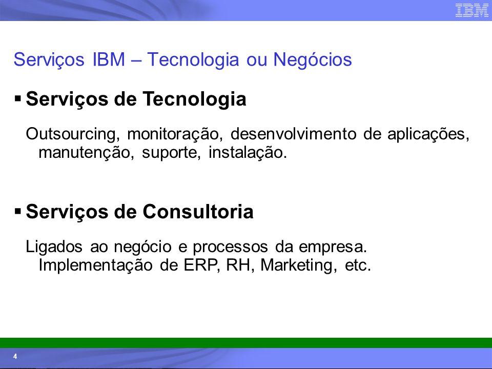 Serviços IBM – Tecnologia ou Negócios