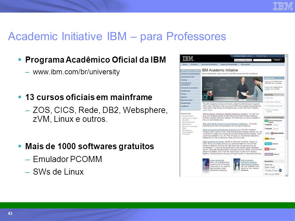 Academic Initiative IBM – para Professores