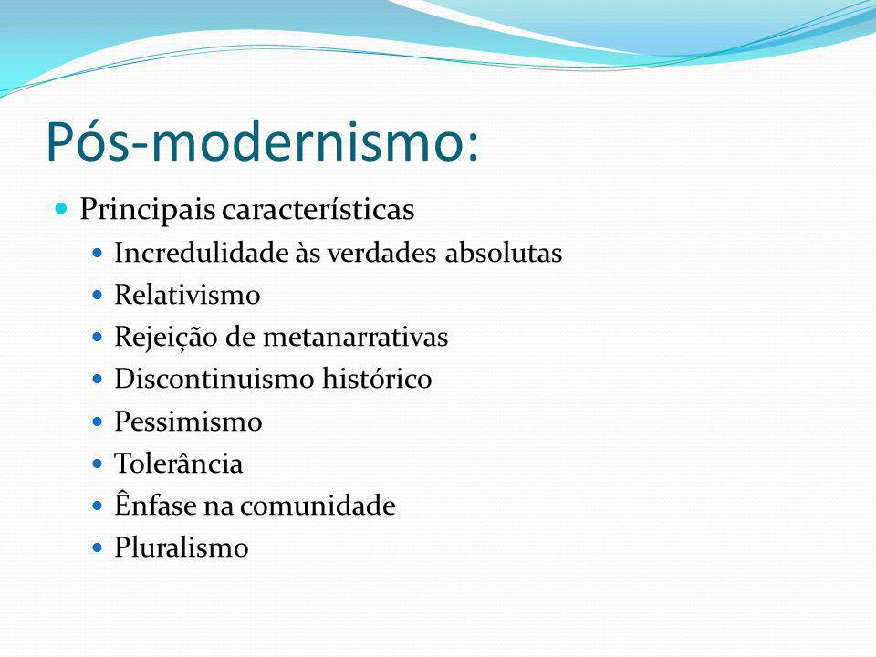 Pós-modernismo: Principais características