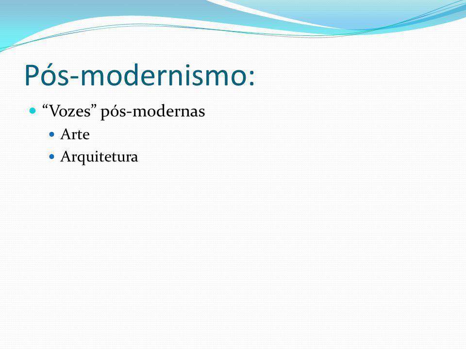 Pós-modernismo: Vozes pós-modernas Arte Arquitetura