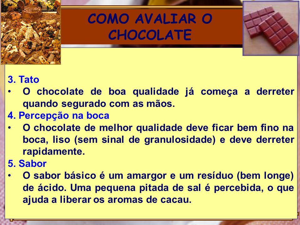 COMO AVALIAR O CHOCOLATE