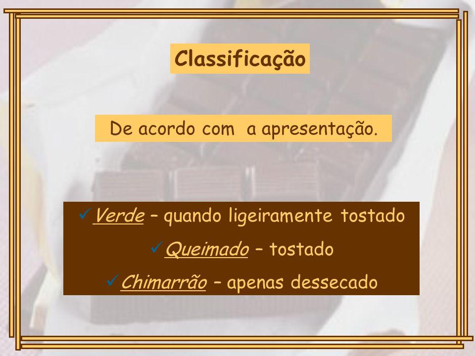 Classificação De acordo com a apresentação.