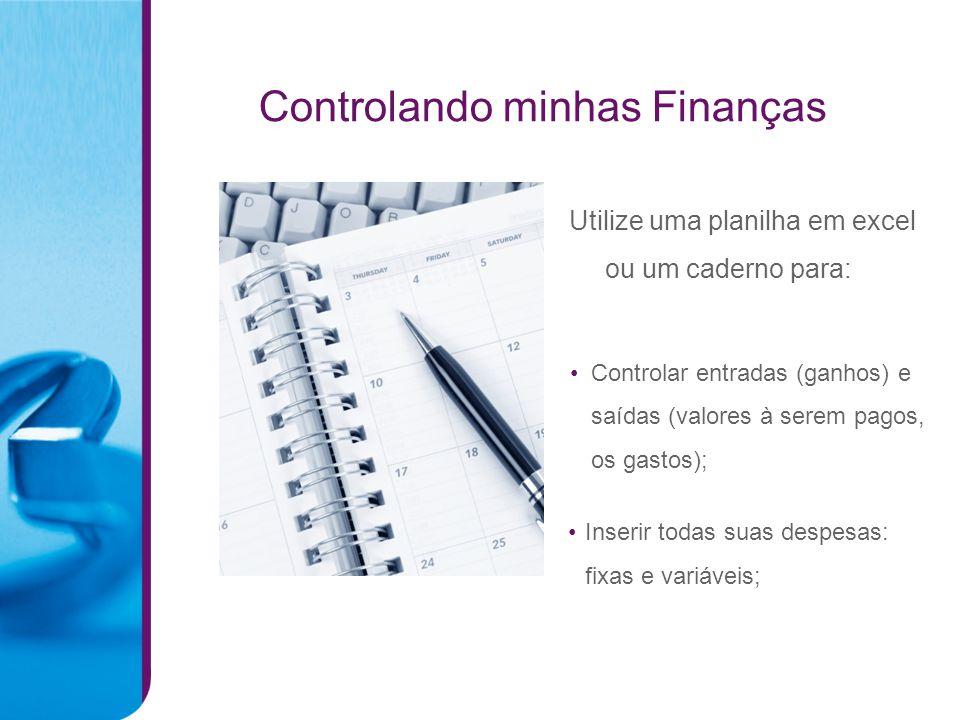 Controlando minhas Finanças