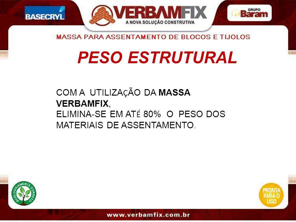 PESO ESTRUTURAL COM A UTILIZAÇÃO DA MASSA VERBAMFIX,