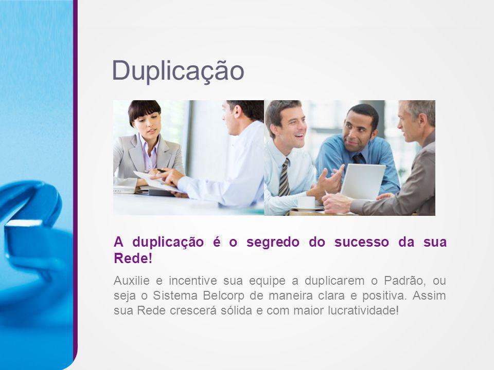 Duplicação A duplicação é o segredo do sucesso da sua Rede!