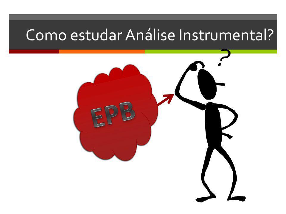 Como estudar Análise Instrumental