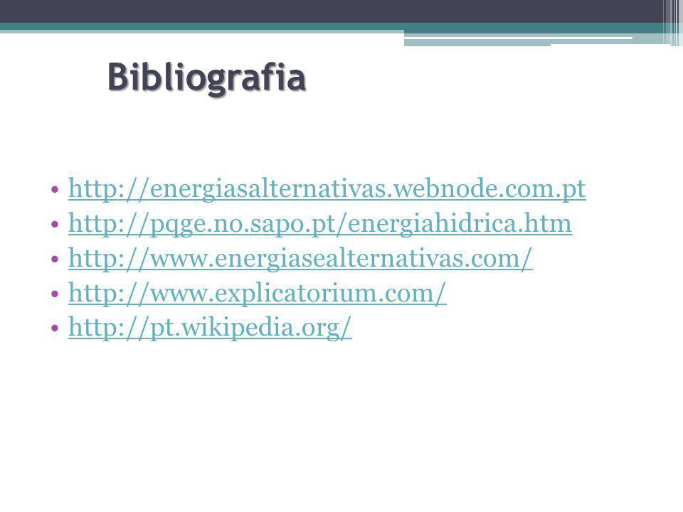 Bibliografia http://energiasalternativas.webnode.com.pt