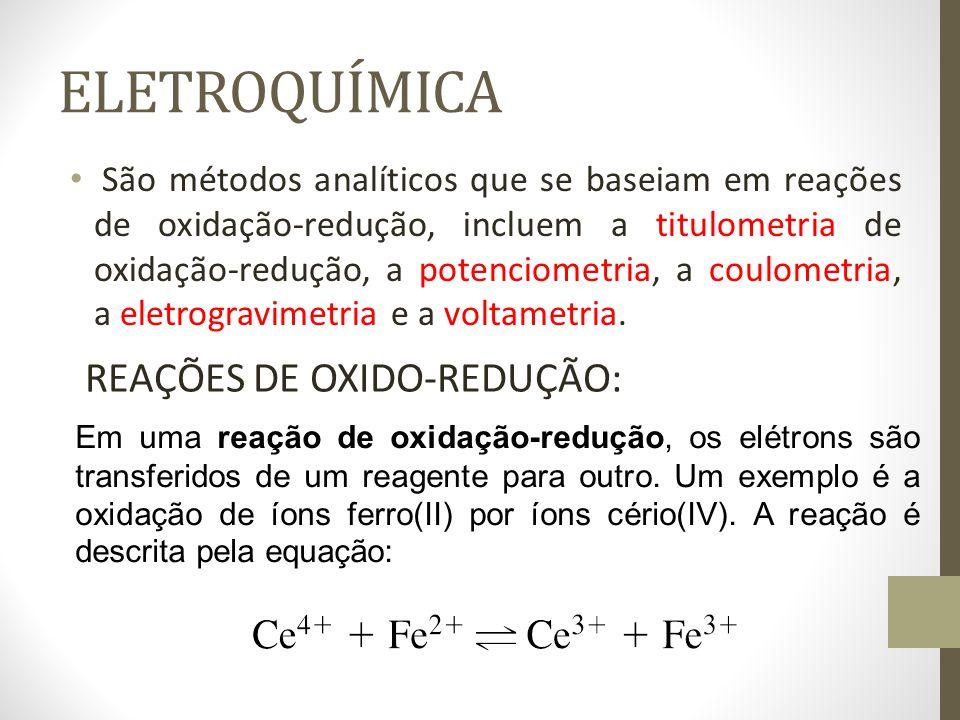 ELETROQUÍMICA REAÇÕES DE OXIDO-REDUÇÃO:
