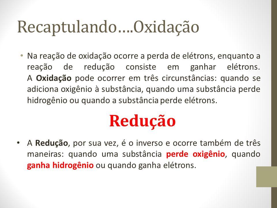Recaptulando….Oxidação