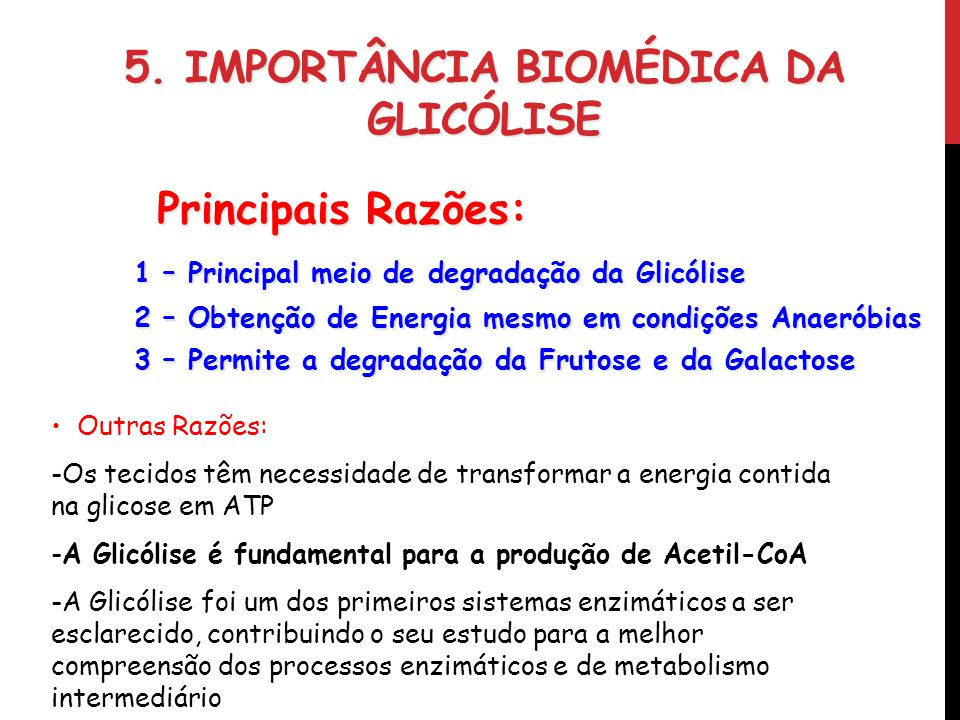5. Importância Biomédica da Glicólise