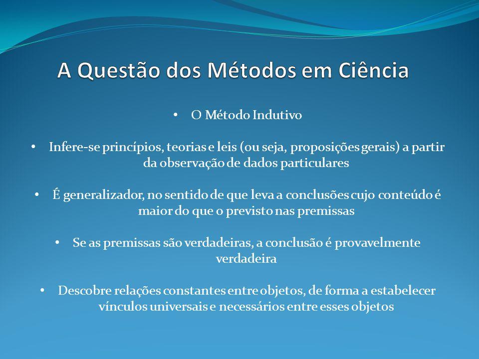 A Questão dos Métodos em Ciência