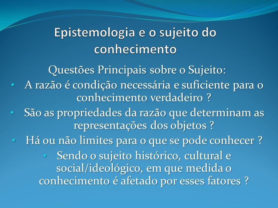 Epistemologia e o sujeito do conhecimento