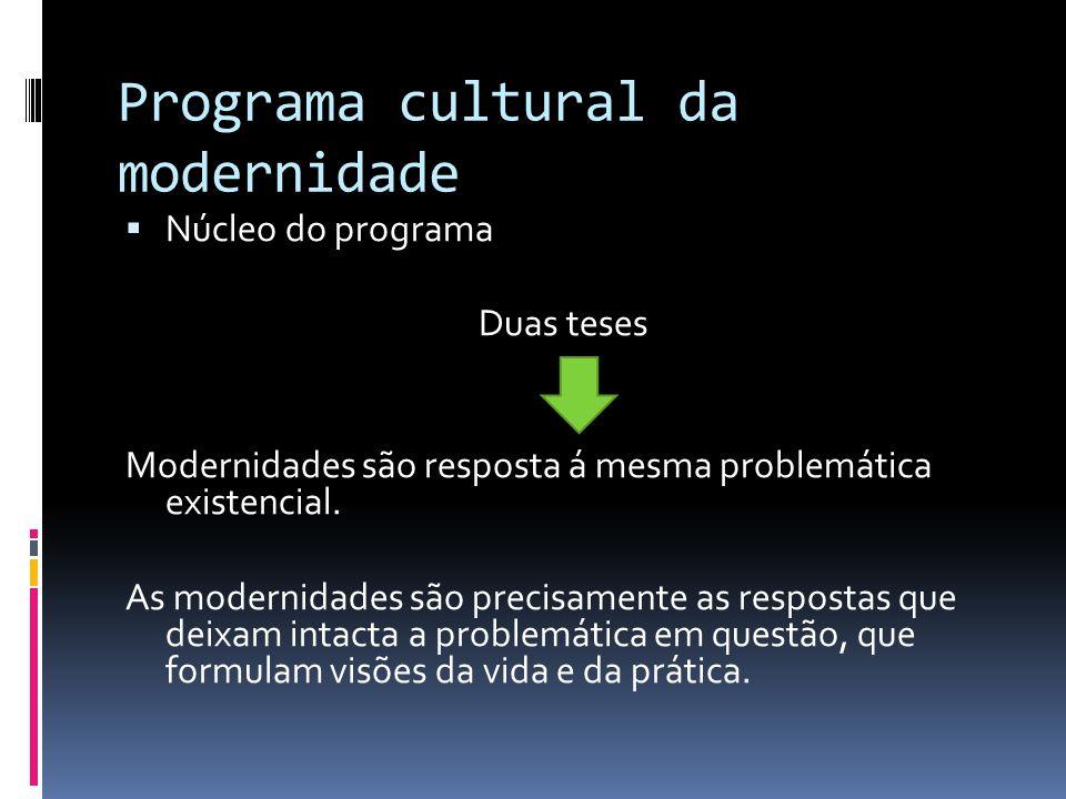 Programa cultural da modernidade