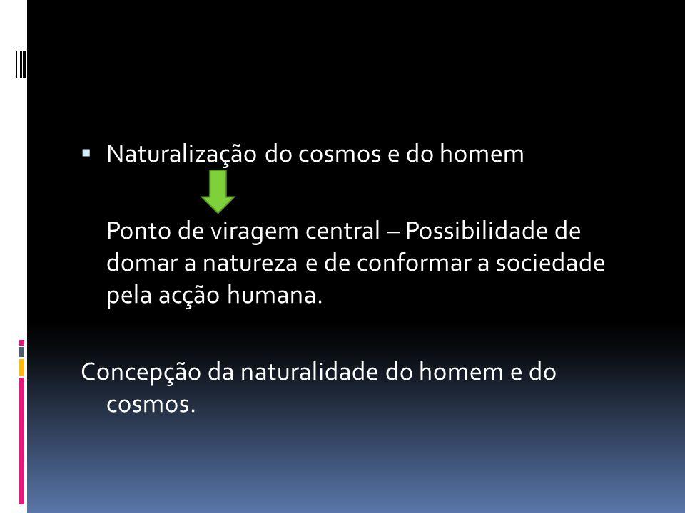 Naturalização do cosmos e do homem