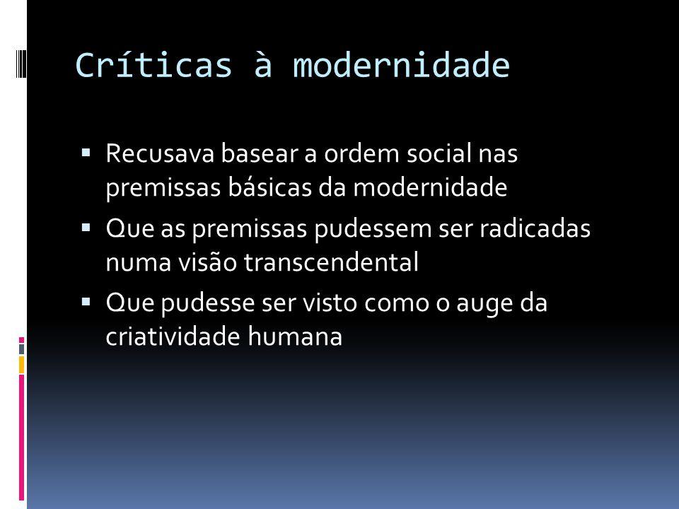 Críticas à modernidade