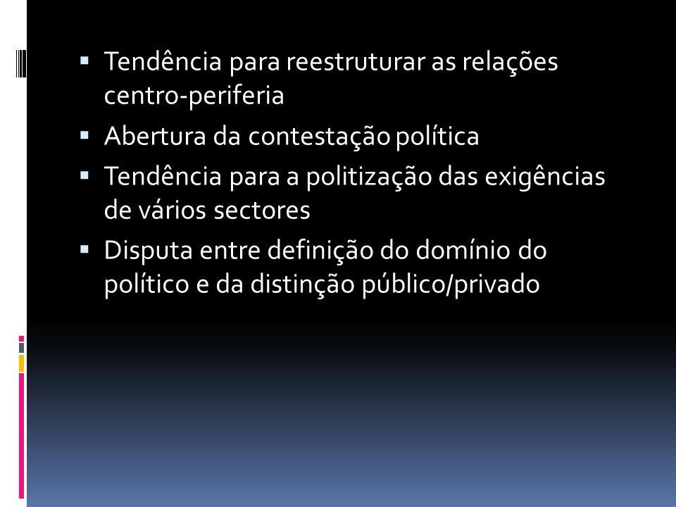 Tendência para reestruturar as relações centro-periferia