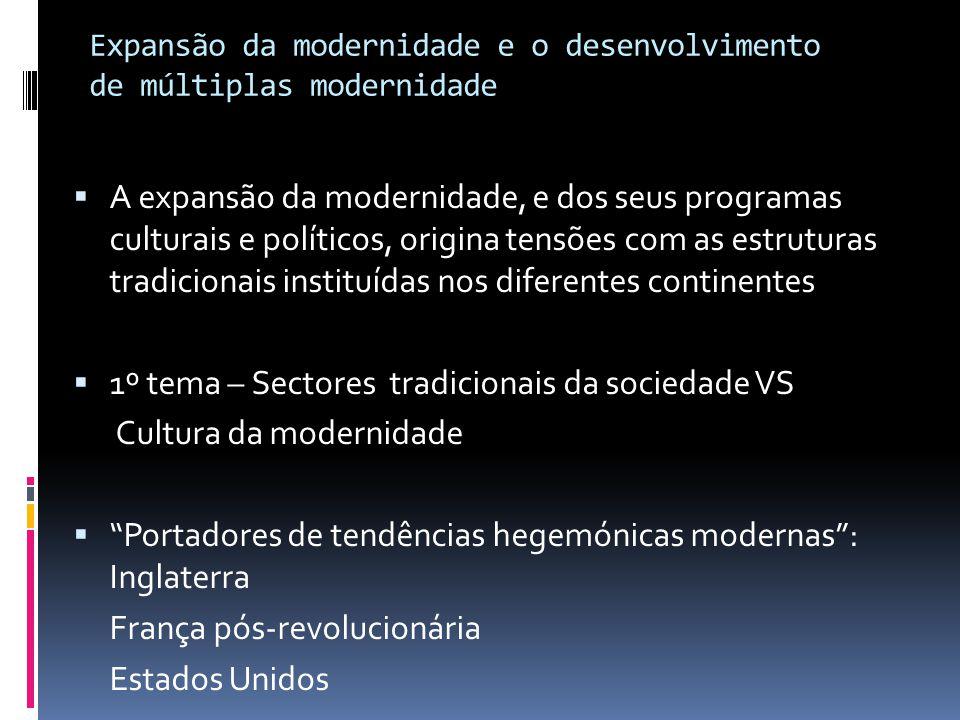 Expansão da modernidade e o desenvolvimento de múltiplas modernidade