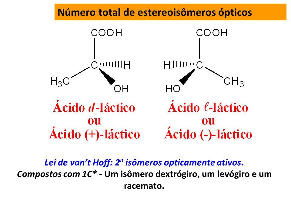 Número total de estereoisômeros ópticos
