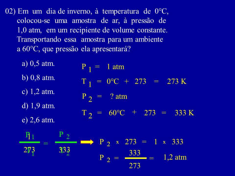 02) Em um dia de inverno, à temperatura de 0°C,