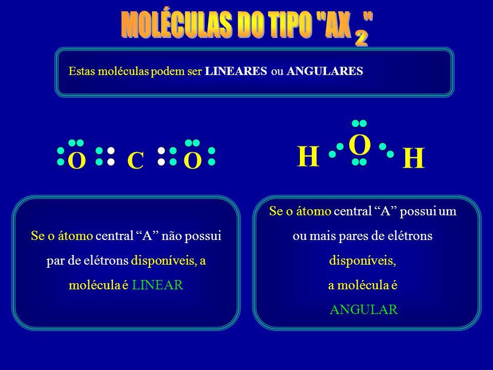 O H H MOLÉCULAS DO TIPO AX O C O 2