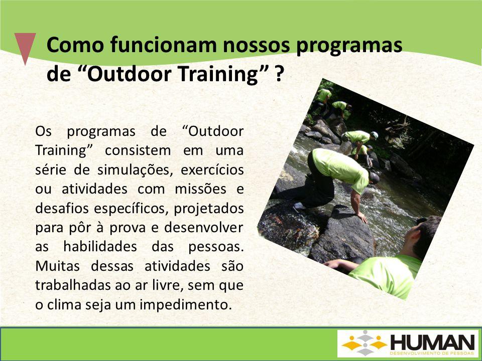 Como funcionam nossos programas de Outdoor Training