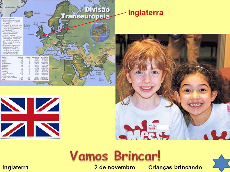 Inglaterra Vamos Brincar! Inglaterra 2 de novembro Crianças brincando