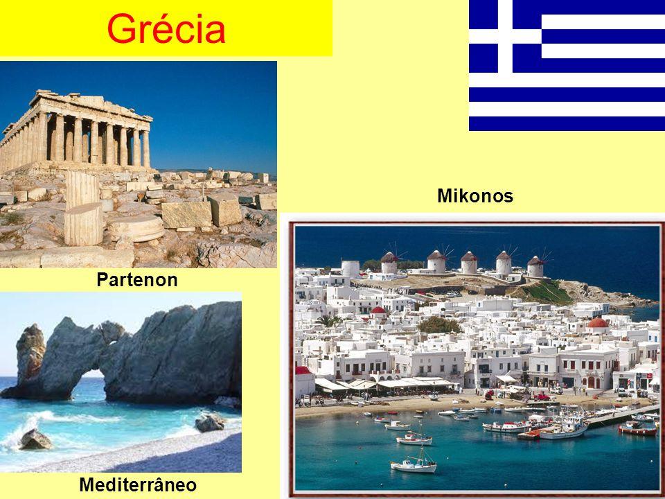 Grécia Mikonos Partenon Mediterrâneo