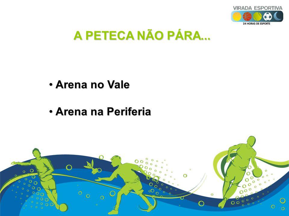 A PETECA NÃO PÁRA... Arena no Vale Arena na Periferia