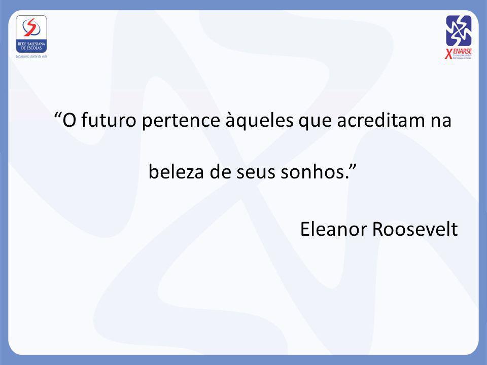 O futuro pertence àqueles que acreditam na beleza de seus sonhos