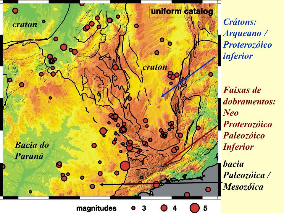 Crátons: Arqueano / Proterozóico inferior