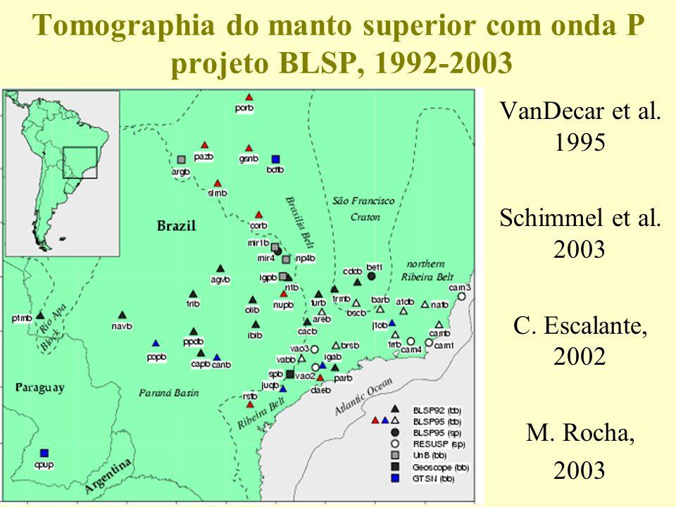 Tomographia do manto superior com onda P projeto BLSP, 1992-2003