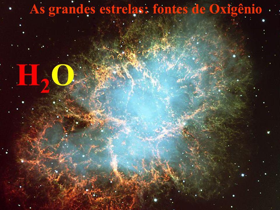 As grandes estrelas: fontes de Oxigênio