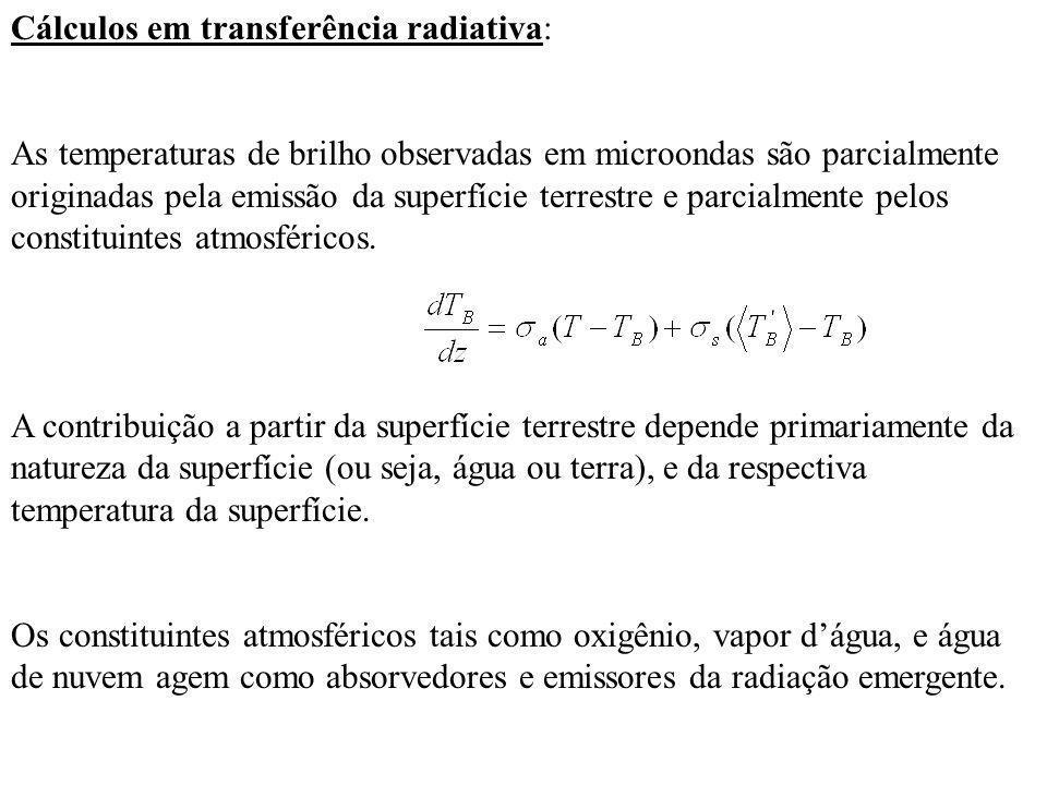 Cálculos em transferência radiativa: