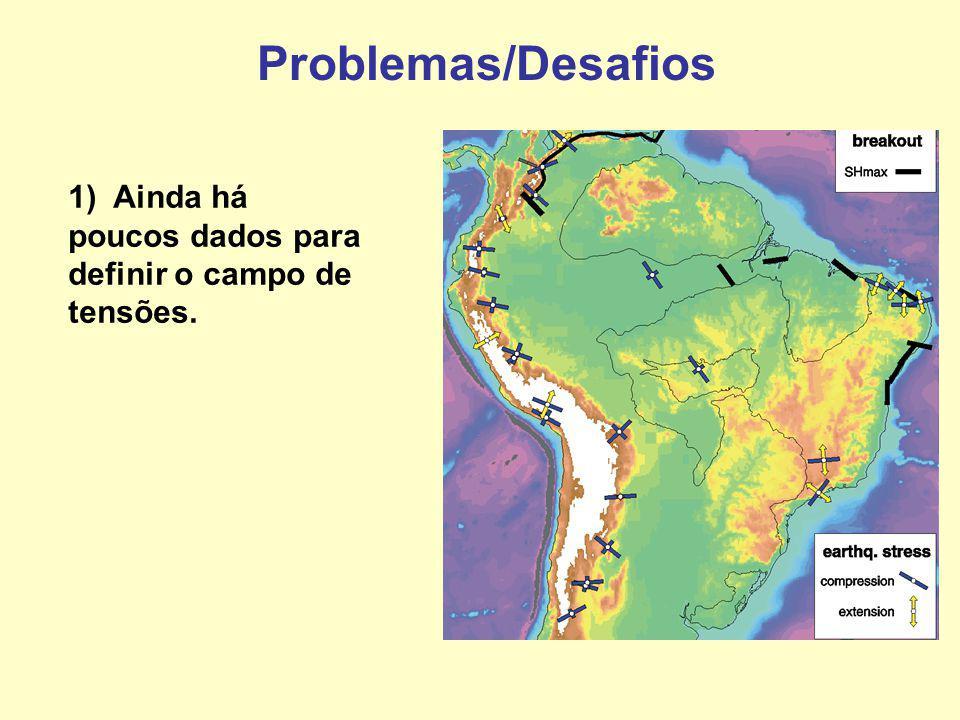 Problemas/Desafios 1) Ainda há poucos dados para definir o campo de tensões.