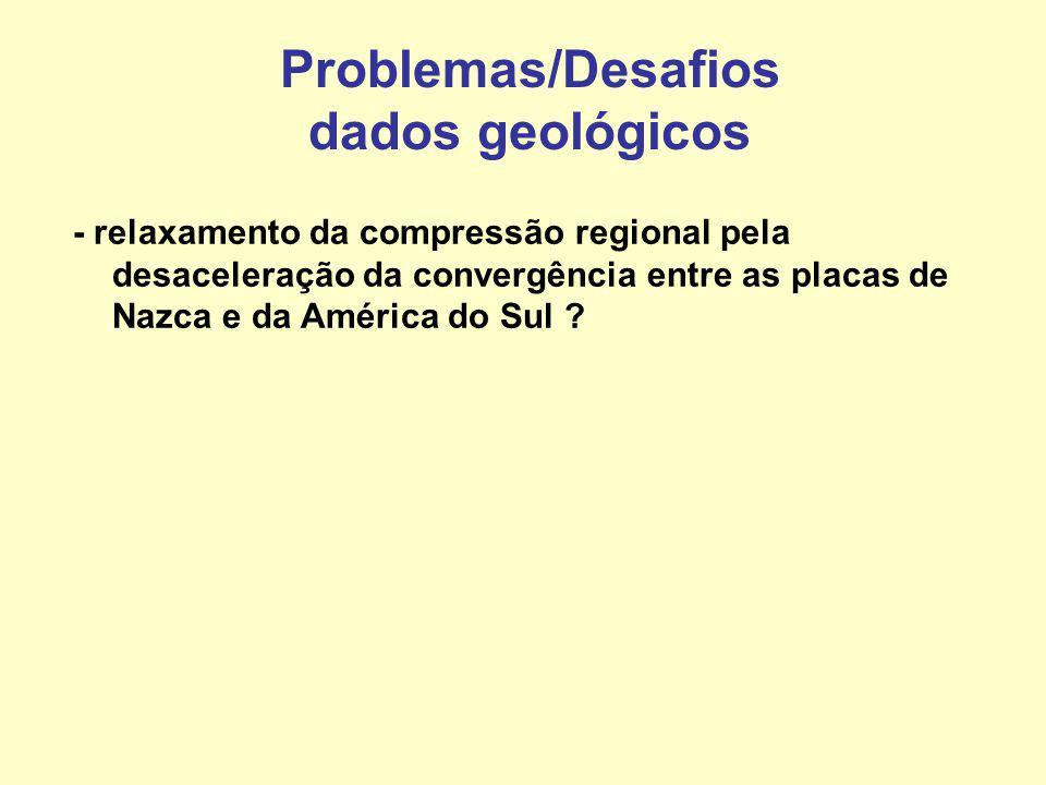 Problemas/Desafios dados geológicos