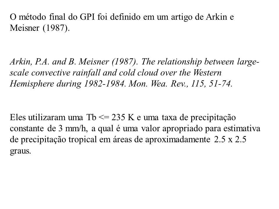 O método final do GPI foi definido em um artigo de Arkin e Meisner (1987).