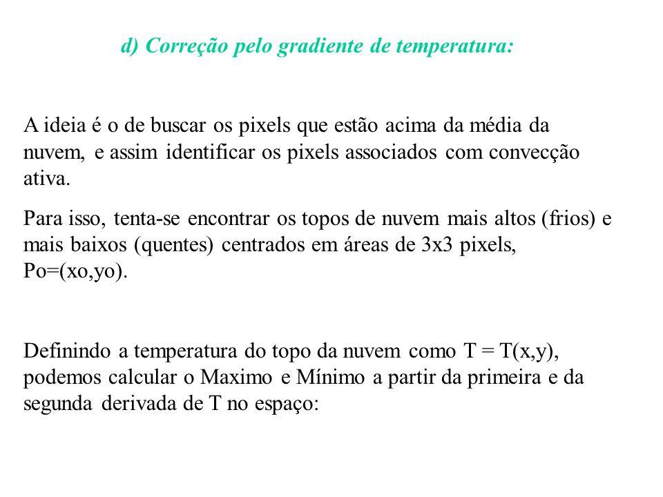 d) Correção pelo gradiente de temperatura: