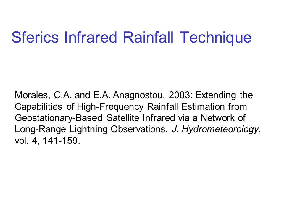 Sferics Infrared Rainfall Technique
